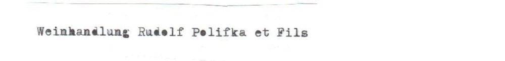 Weinhandlung Rudolf Polifka